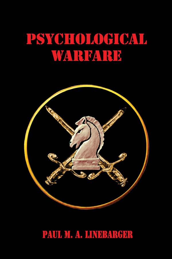 Psychological Warfare By Paul Linebarger